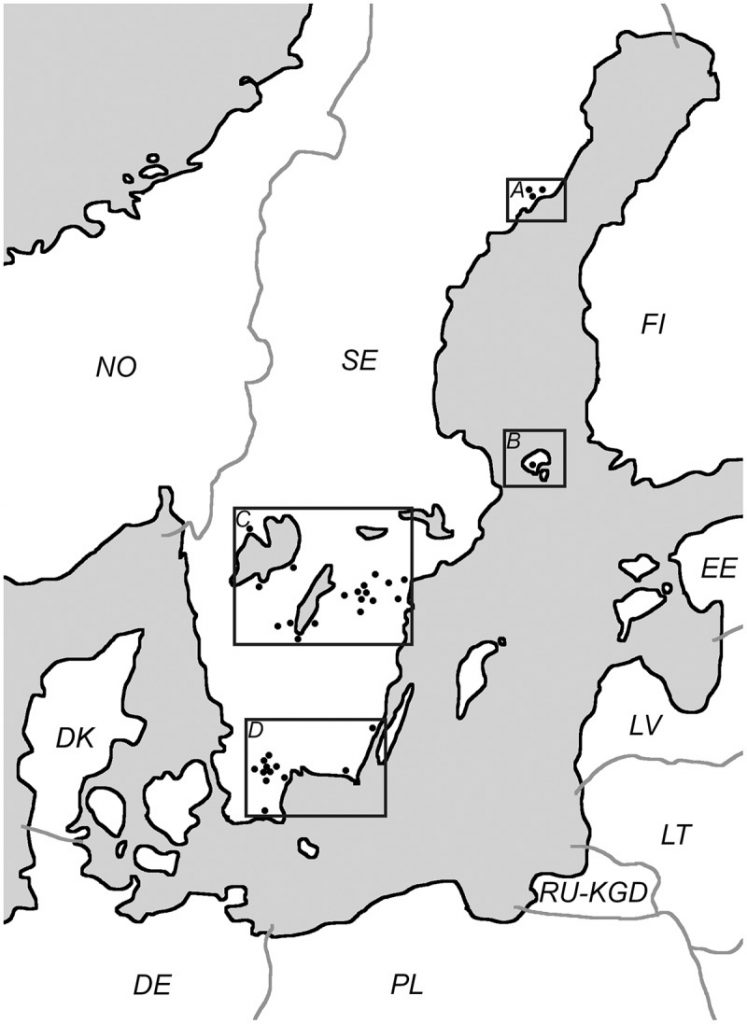 The Tick-Borne Diseases STING study: Real-time PCR analysis of three emerging tick-borne pathogens in ticks that have bitten humans in different regions of Sweden and the Aland islands, Finland.
